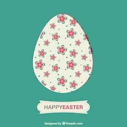 Huevo adornado con un estampado de flores