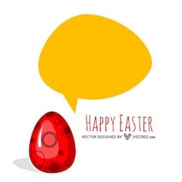 Huevo de Pascua 3d con bocadillo