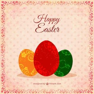 Huevos de Pascua con decoración ornamental