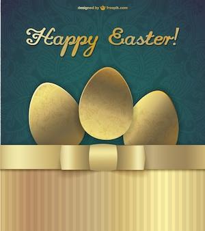 Huevos de Pascua dorados