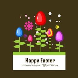 Huevos de Pascua plantados felices