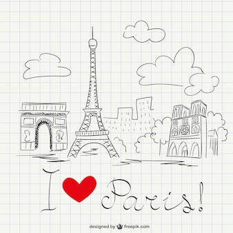 Boceto de Me encanta París