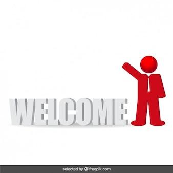 Icono de bienvenido hombre de negocios
