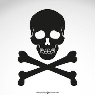Icono de calavera con huesos cruzados
