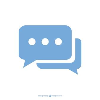 Icono de chat de bocadillo de diálogo