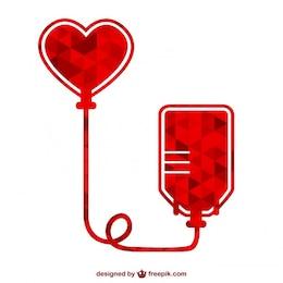 Icono de donación de sangre poligonal