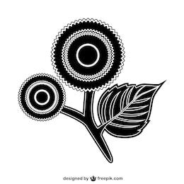 Icono de flor decorativa