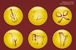 icono de la música psd
