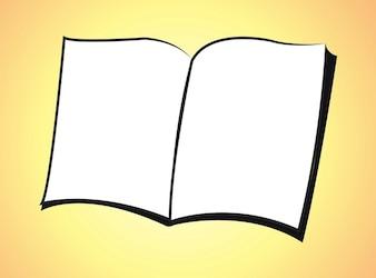 icono de libro en blanco