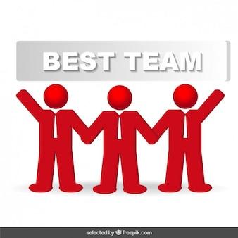Icono del mejor equipo de hombres de negocios