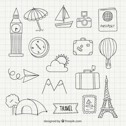 Icono Viaje garabatos