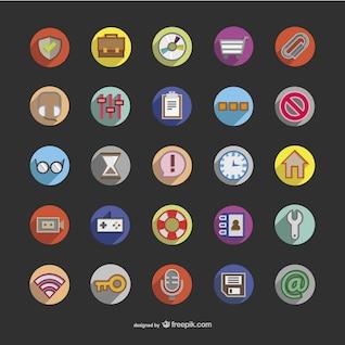 Iconos 3D redondos