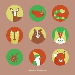 Iconos animales del bosque