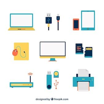 Iconos coloridos de aparatos