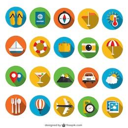 Iconos coloridos de verano