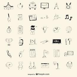 Iconos de  escuela