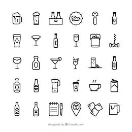 Iconos de bar