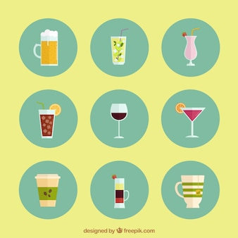 Iconos de beber alcohol