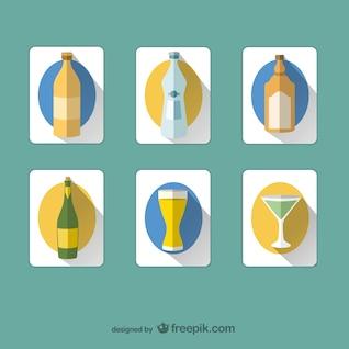 Iconos de botellas y bebidas