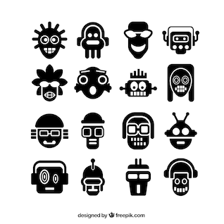 Iconos de cabezas abstractas