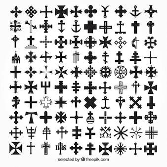 Iconos de colección de cruces