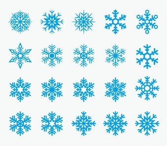 Iconos de copos de nieve