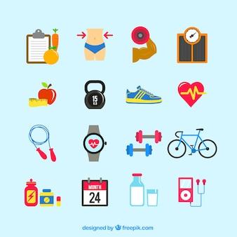 Iconos de en buena forma