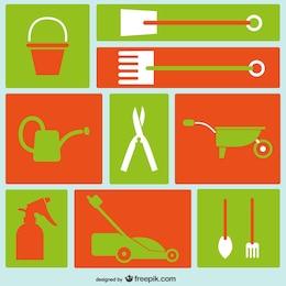 Iconos de herramientas de jardinería
