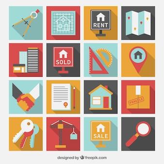 Iconos de inmobiliaria