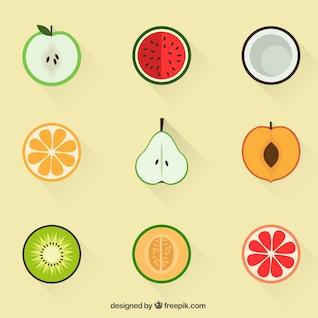 Iconos de la fruta de verano