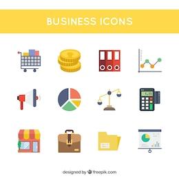 Iconos de la oficina de negocios y de marketing