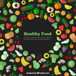 Iconos de los alimentos saludables
