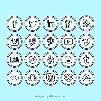 Iconos de los medios sociales