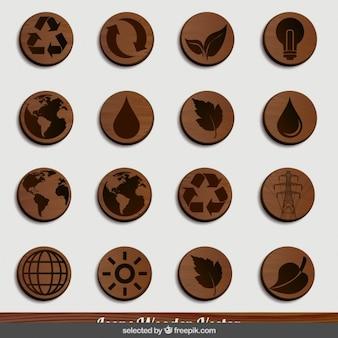 Iconos de madera Naturaleza