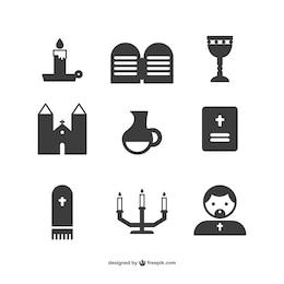 Iconos de objetos religiosos