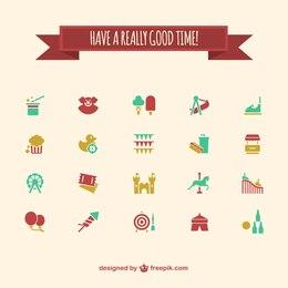 Iconos de parque de atracciones
