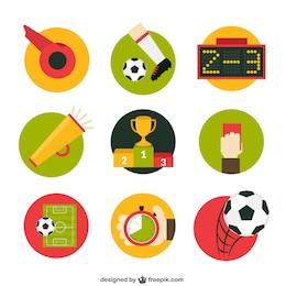 Iconos de partido de fútbol