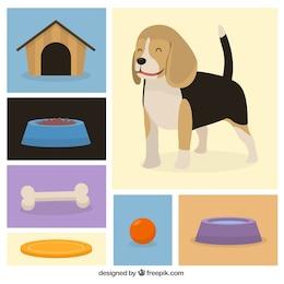 Iconos de perro lindo