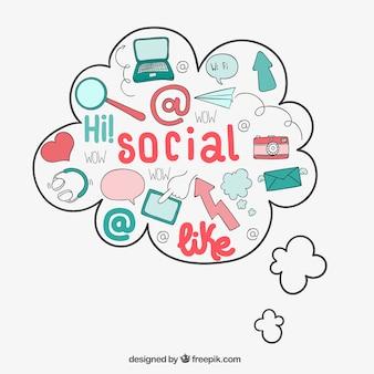 Iconos de redes sociales preciosas