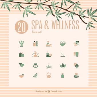 Iconos de spa y bienestar