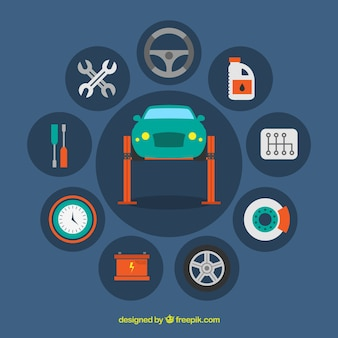 Iconos de taller mecánico