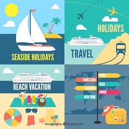 Iconos de vacaciones
