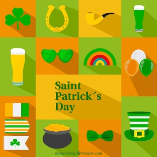 Iconos del día de San Patricio