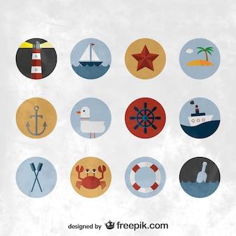 Iconos náuticos a color