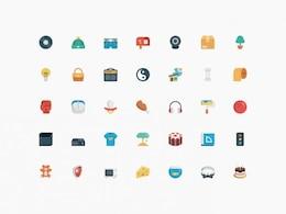 Iconos pequeños paquete de psd