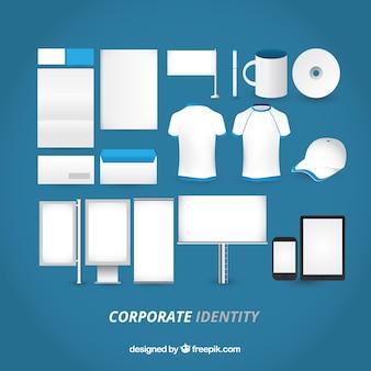 Identidad corporativa en blanco