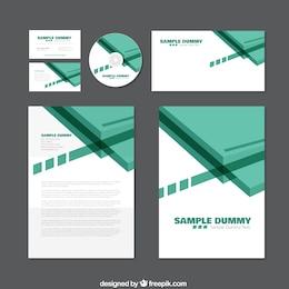 Identidad corporativa verde
