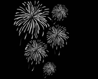illustratioins acciones: vector de fuegos artificiales