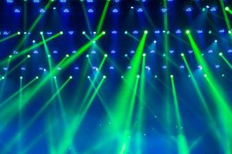 Iluminación de escenario, desenfoque, de fondo