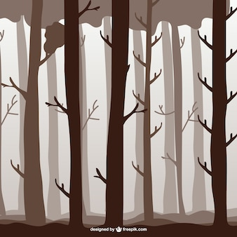 Ilustración árboles del bosque